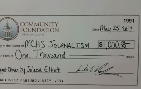 The Community Foundation and MCHS Journalist Donate to The Madisonian