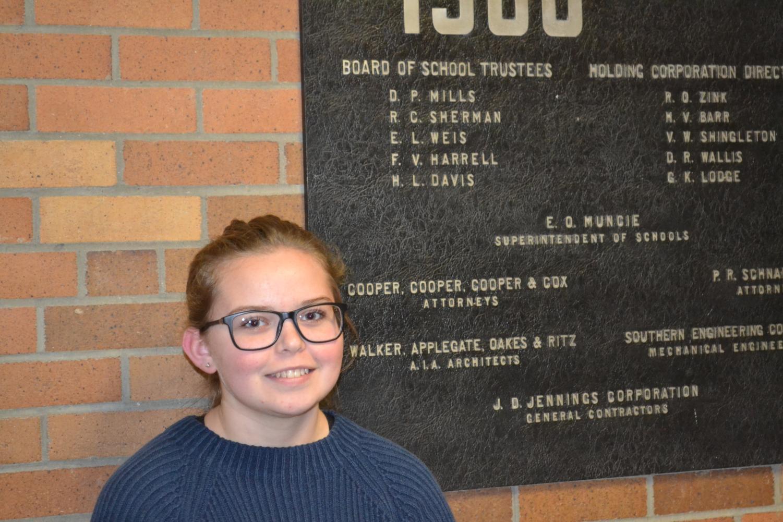 New MCHS student journalist, Katelynn Hanna