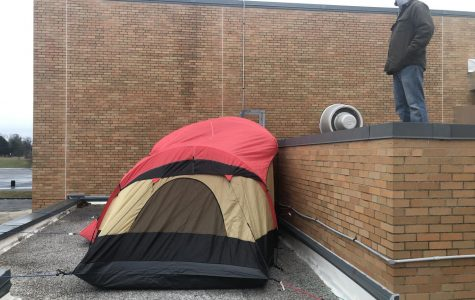 MCHS Administrators Sleep on the Roof for Charity