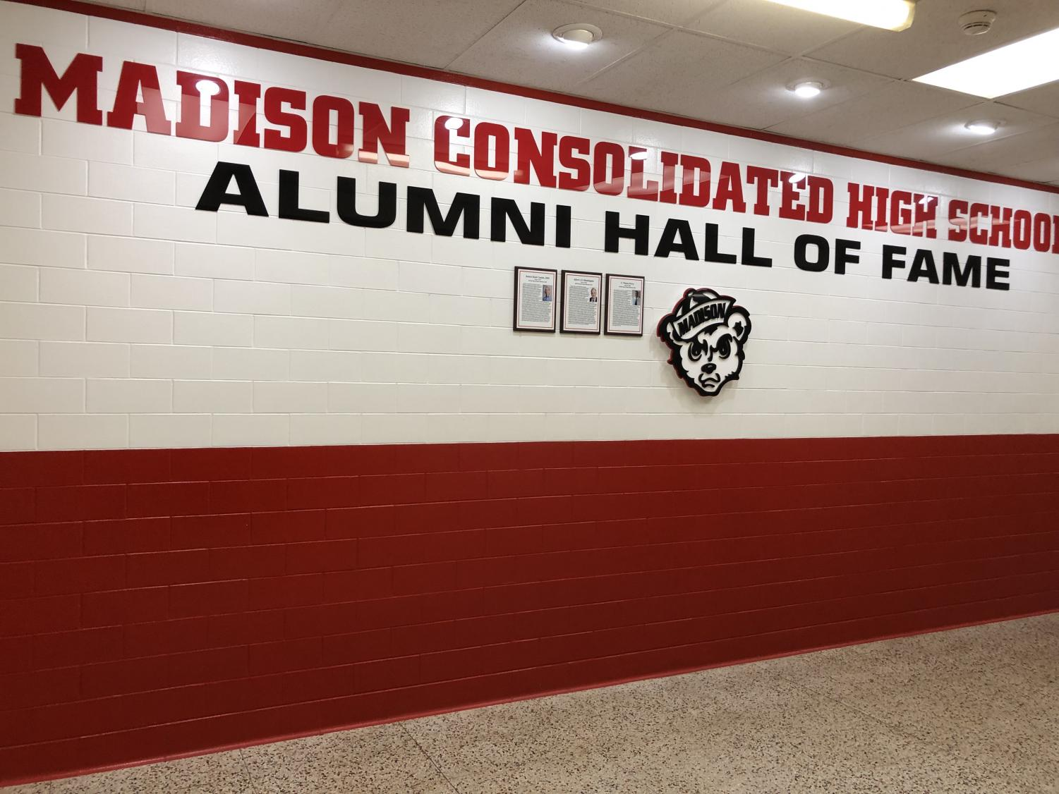 The MCHS Alumni Hall of Fame located in M Wing of the high school.