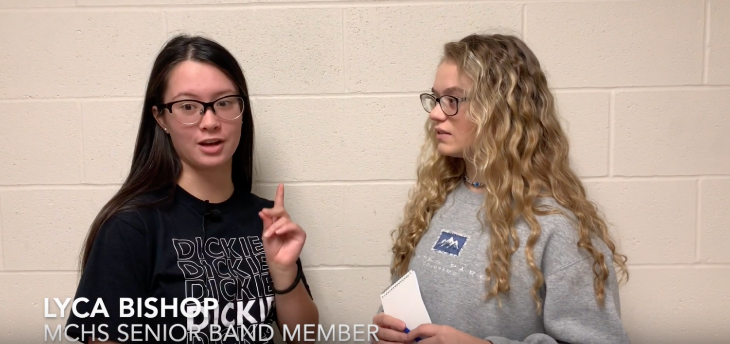 Senior Lyca Bishop discusses the MCHS band victory at Columbus North