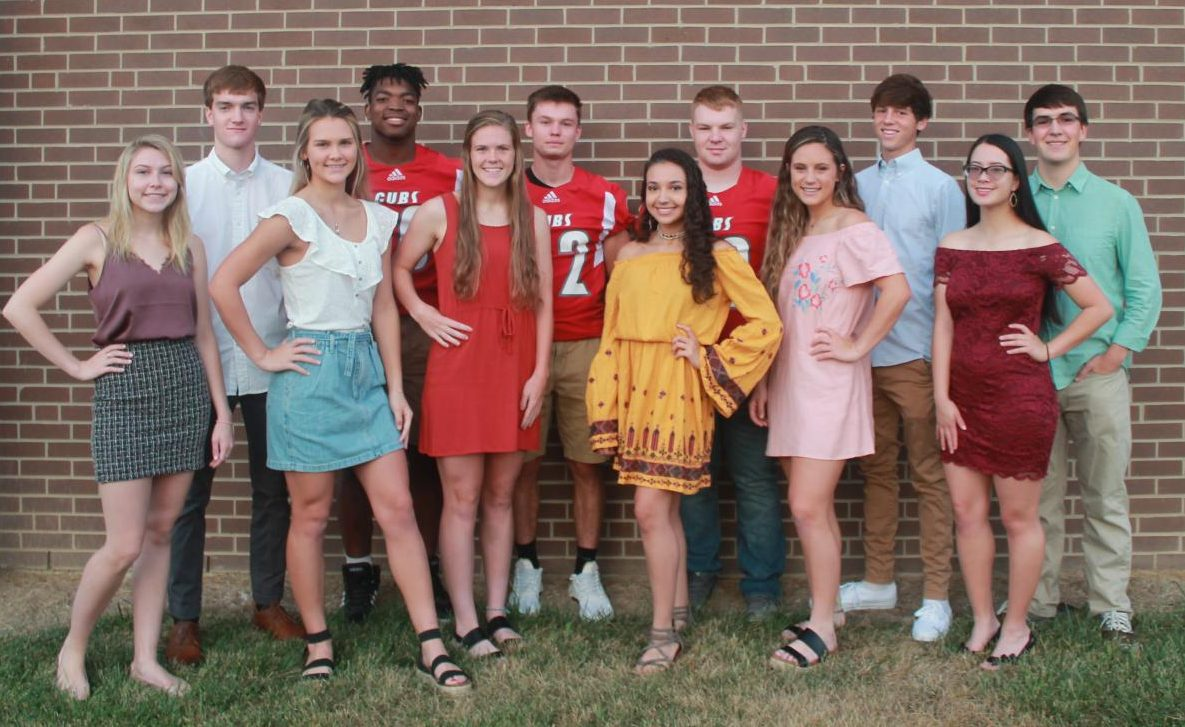 MCHS+2019+Fall+Homecoming+candidates.+Back+row+from+left%3A+Matt+Ward%2C+Noah+Caswell%2C+Bryce+Fkoy%2C+Tucker+Adams%2C+Carson+Denton%2C+Isaac+Boone%0AFront+row+from+left%3A+Lucy+Lynch%2C+Paige+Young%2C+Ariel+Hall%2C+Kennedy+Stidham%2C+Lyca+Bishop