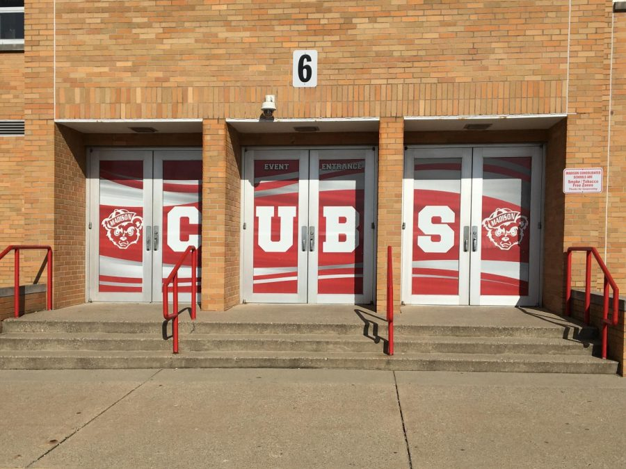 MCHS Adds Door Decals around Gym to Improve Safety and Appearance