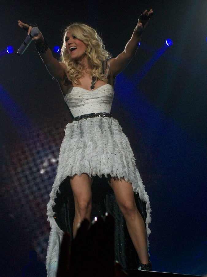 Carrie Underwood from her 'Blown Away' tour. Via commons.wikimedia.org