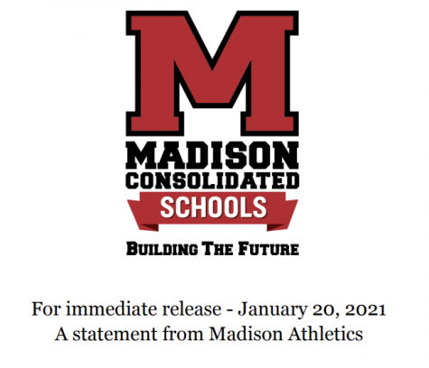 Statement from Madison Athletics Regarding the Continued Focus on the Health and Safety of Students as Our County Enters Another Week under Red Status