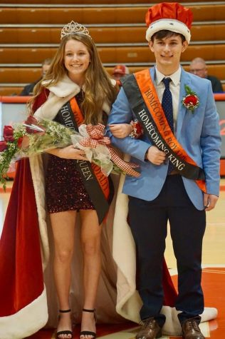 2021 Winter Homecoming winners Brett Cahall and Jacob Smith