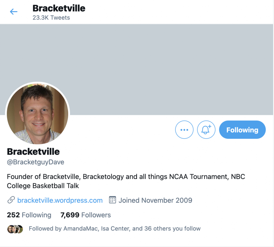 Local resident Dave Ommen's Bracketvile Twitter page